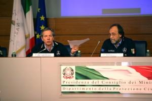 Guido Bertolaso, Capo Dipartimento, e Bernardo De Bernardinis, Vice Capo Dipartimento
