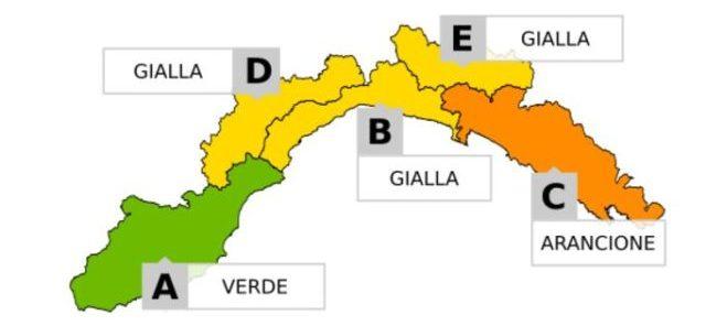 Mappa meteo a Liguria.