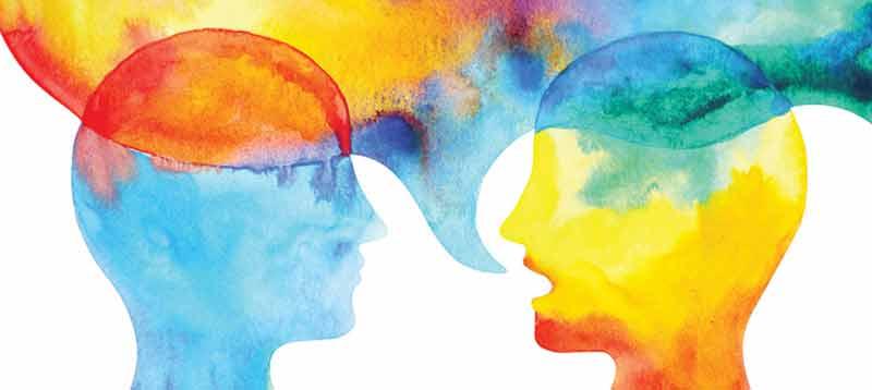 La rete delle associazioni di psicologi e psicoanalisti per dare sostegno alle persone in difficoltà a causa dell'isolamento dovuto all'emergenza Covid-19. Nella foto due profili di persone che parlano
