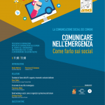 locandina programma webinar comunicare sui social di PAsocial