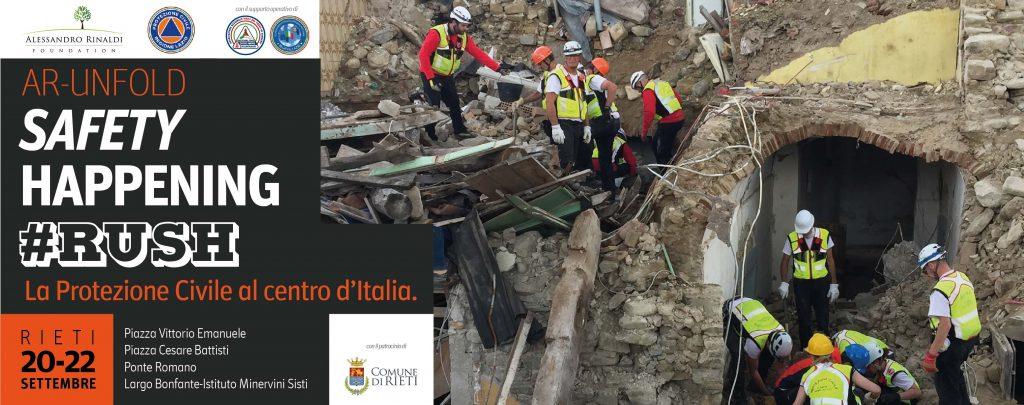 locandina incontro a Rieti sulla protezione civile
