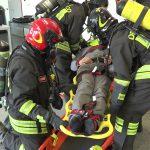 vigili del fuoco soccorrono persona con sla