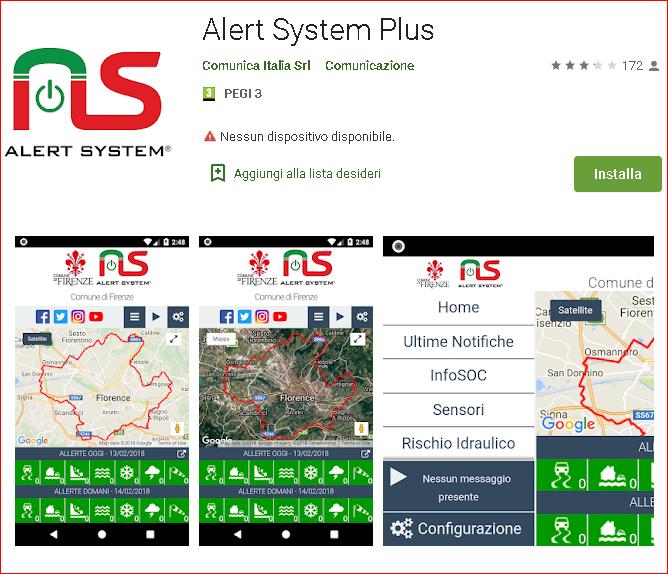 Alert System Plus schermate app