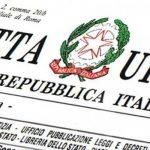 Gazzetta Ufficiale per Decreto semplificazioni