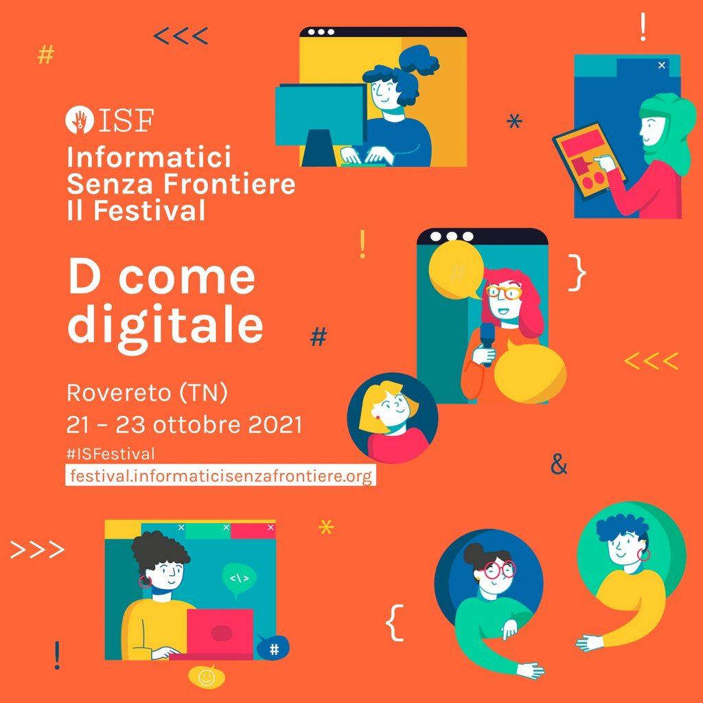 locandina festival Informatici Senza Frontiere 2021